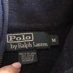 Polo by Ralph Lauren Sweaters - Polo quarter zip sweater Men's M Navy like new!